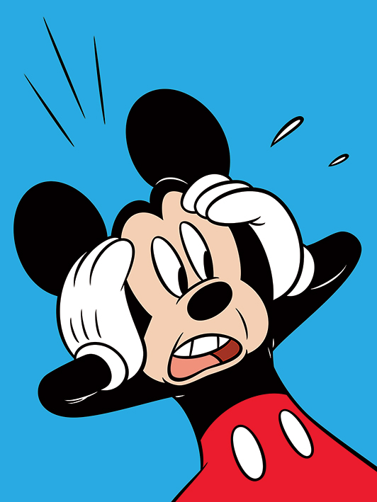 Mickey Mouse Shocked Canvas Print