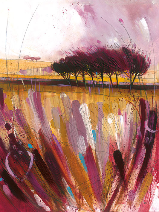 Simon Howden (Through the Bracken in Mauve) Canvas Print