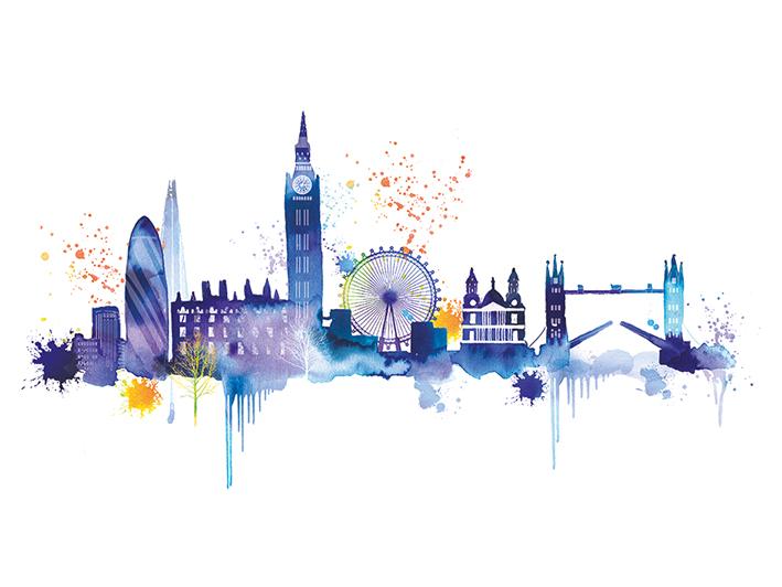 Summer Thornton (London Skyline) Canvas Print