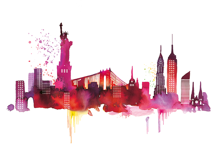 Summer Thornton (New York Skyline) Canvas Print