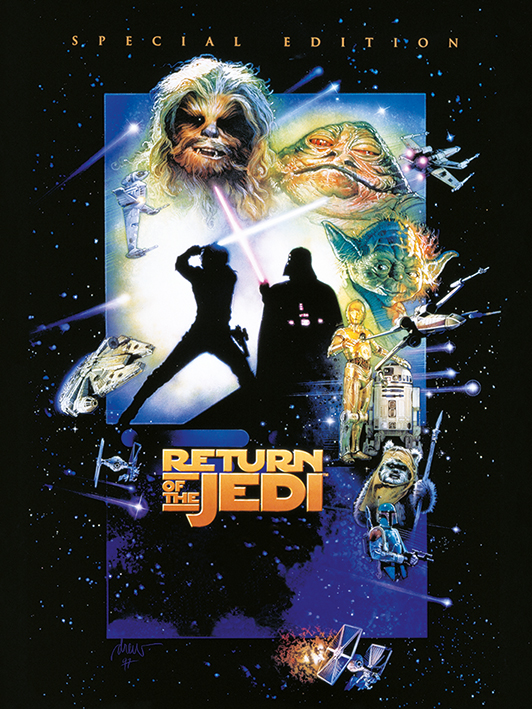 Star Wars Episode VI (Return Of The Jedi) Canvas Print