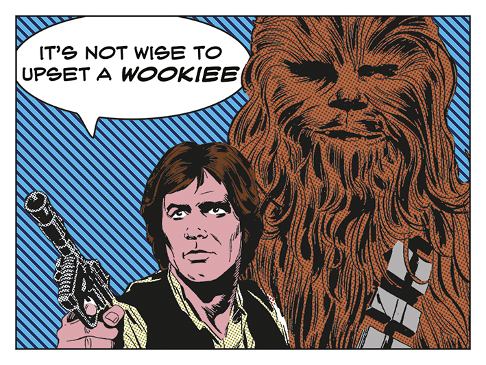 Star Wars (Its Not Wise To Upset A Wookiee) Canvas Print