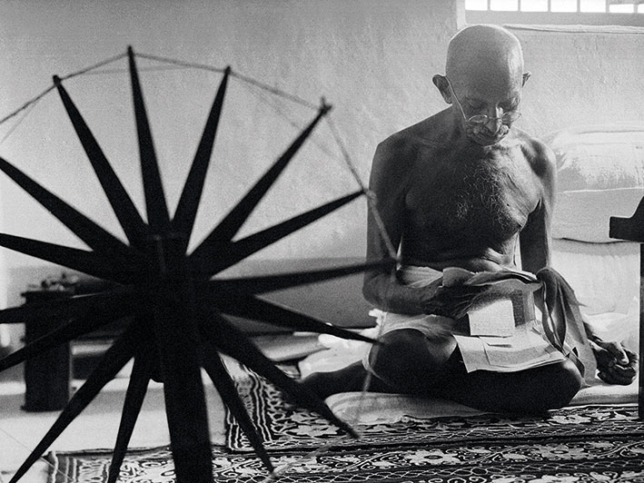 Time Life (Gandhi) Canvas Prints