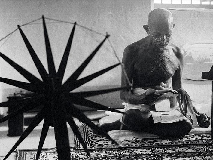 Time Life (Gandhi) Canvas Print