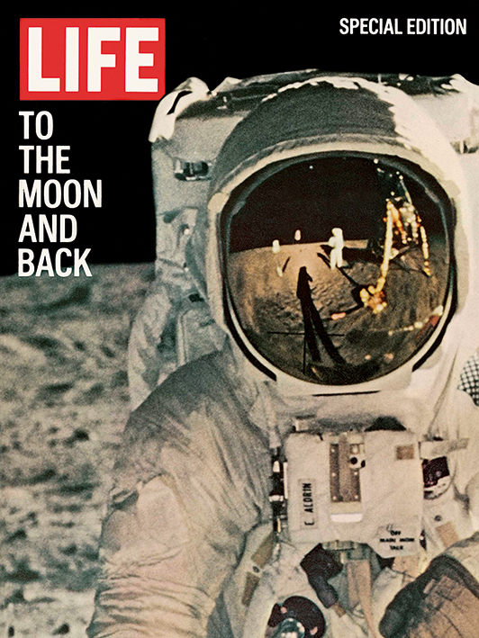 Time Life (Life Cover - To the Moon and Back) Canvas Print