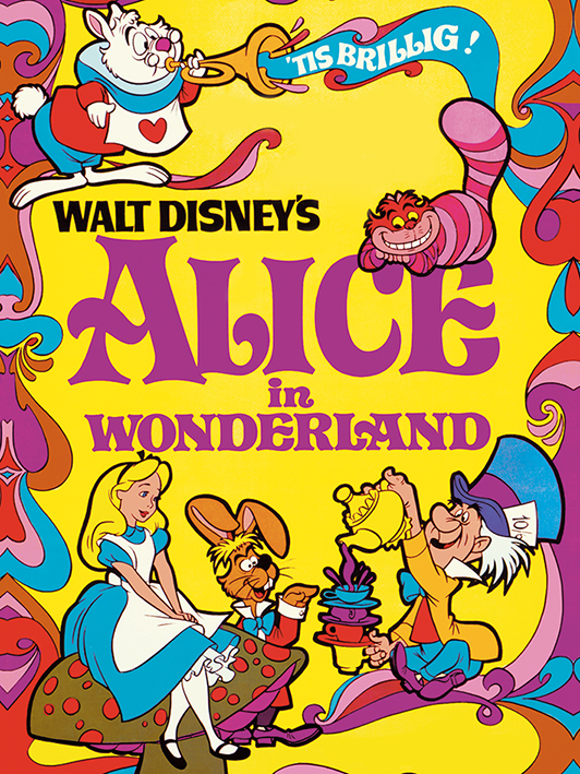 Alice In Wonderland (1974) Canvas Prints