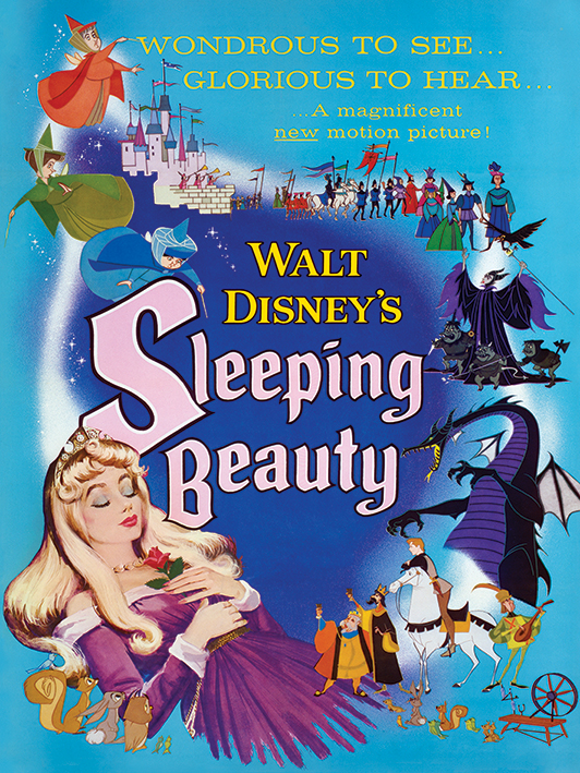 Sleeping Beauty (Glorious) Canvas Prints
