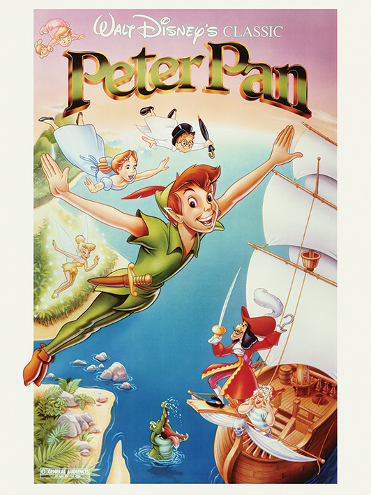 Peter Pan (Flying) Canvas Print