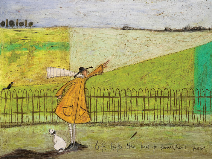 Sam Toft (Let's Take The Bus To Somewhere New) Canvas Print