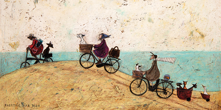 Sam Toft (Electric Bike Ride) Canvas Prints