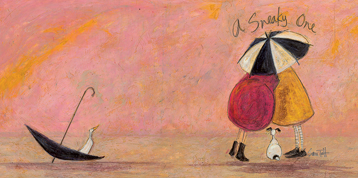 Sam Toft (A Sneaky One II) Canvas Prints