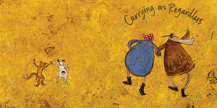 Sam Toft (Carrying on Regardless II) Canvas Prints