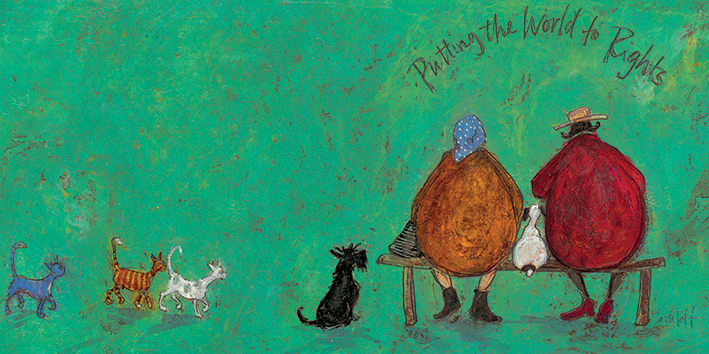 Sam Toft (Putting the World to Rights) Canvas Prints