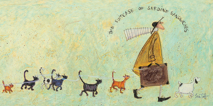 Sam Toft (The Suitcase of Sardine Sandwiches) Canvas Prints