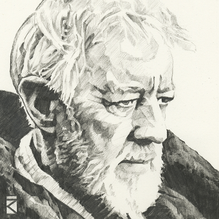 Star Wars (Obi-Wan Kenobi Sketch) Canvas Print