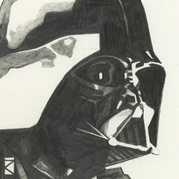 Star Wars (Darth Vader Sketch) Canvas Print