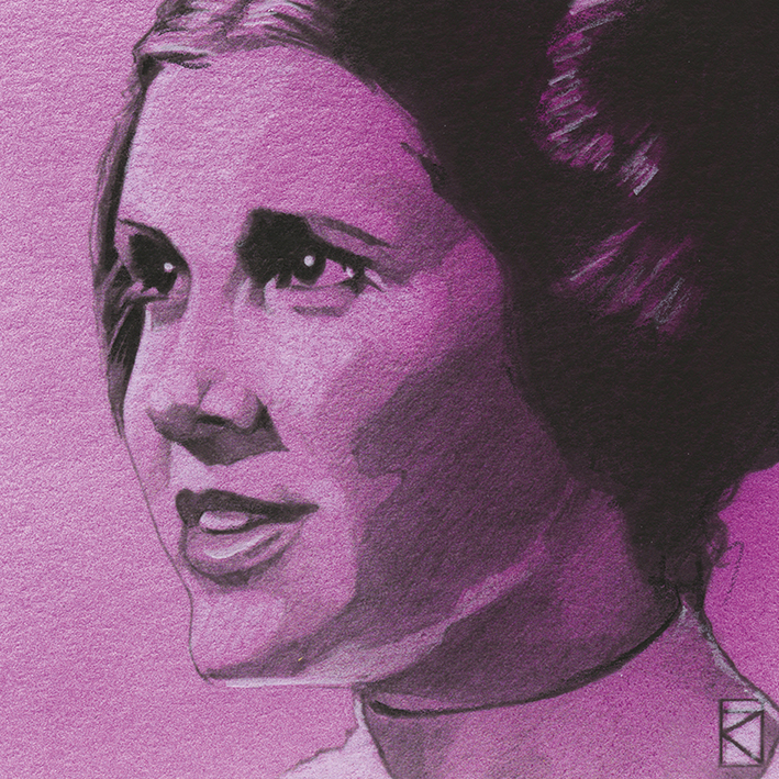 Star Wars (Princess Leia Sketch) Canvas Print
