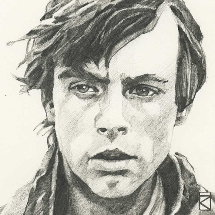 Star Wars (Luke Skywalker Sketch) Canvas Print