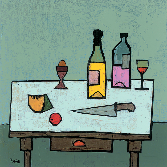 Colin Ruffell (Table Top with Egg) Canvas Print