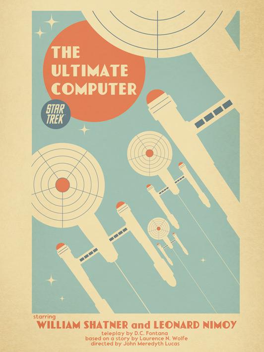 Star Trek (The Ultimate Computer) Canvas Prints