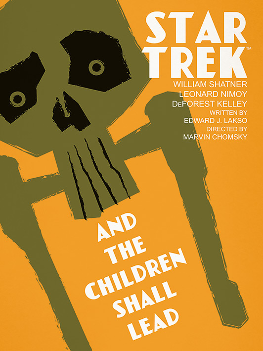 Star Trek (And The Children Shall Lead) Canvas Print