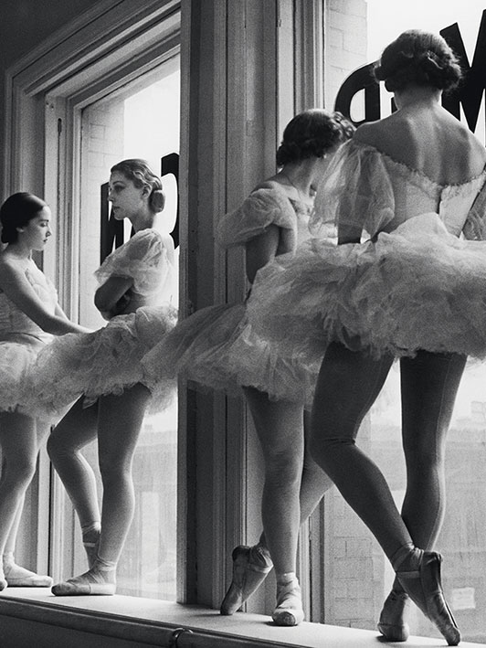 Time Life (Ballerinas In Window) Canvas Prints