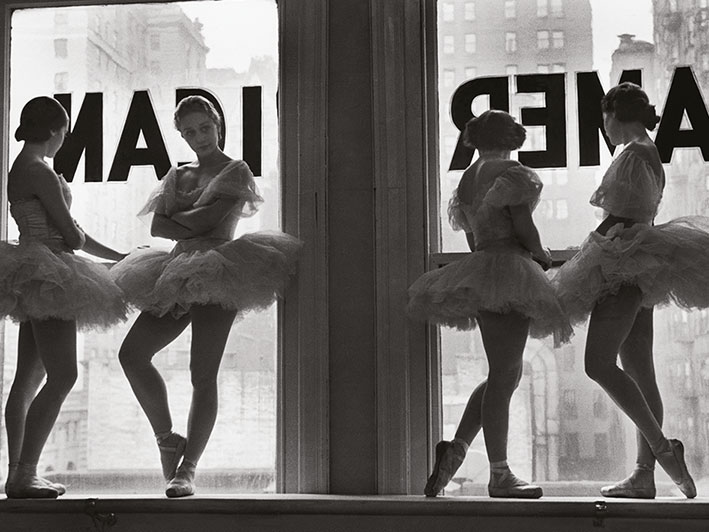 Time Life (Ballet Dancers In Window) Canvas Print