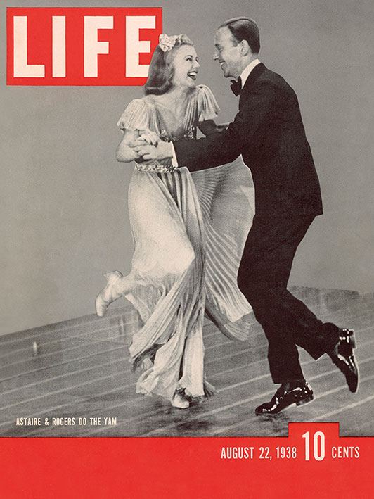 Time Life (Life Cover - Astaire and Rogers) Canvas Print