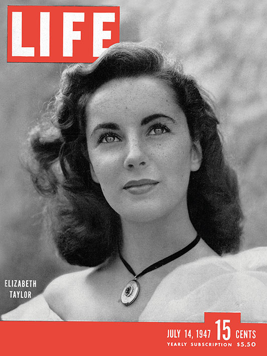 Time Life (Life Cover - Elizabeth Taylor) Canvas Prints