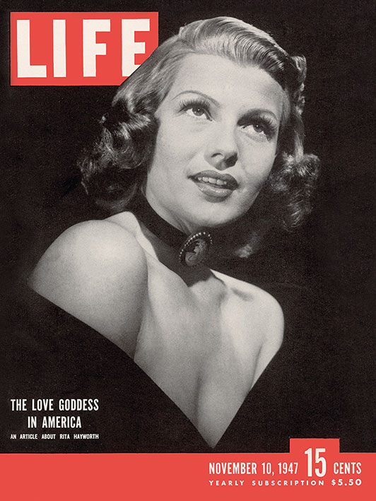 Time Life (Life Cover - Rita Hayworth) Canvas Prints