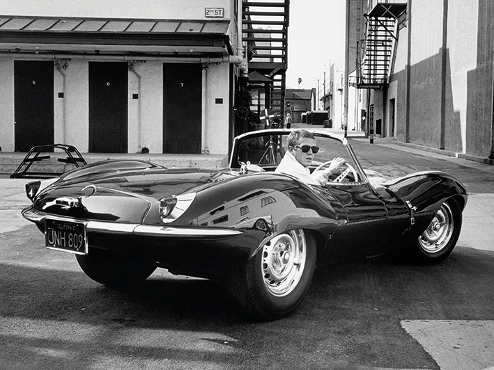 Time Life (Steve McQueen - Jaguar) Canvas Prints