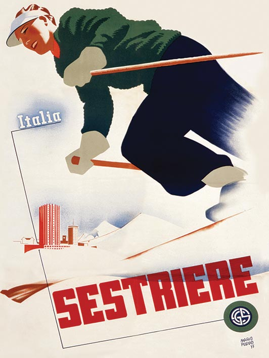 Italia Sestriere Canvas Prints