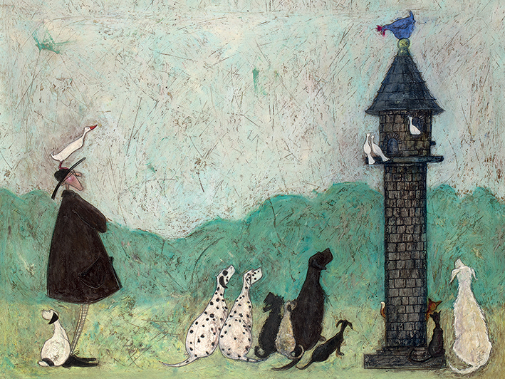 Sam Toft (An Audience with Sweetheart) Canvas Print