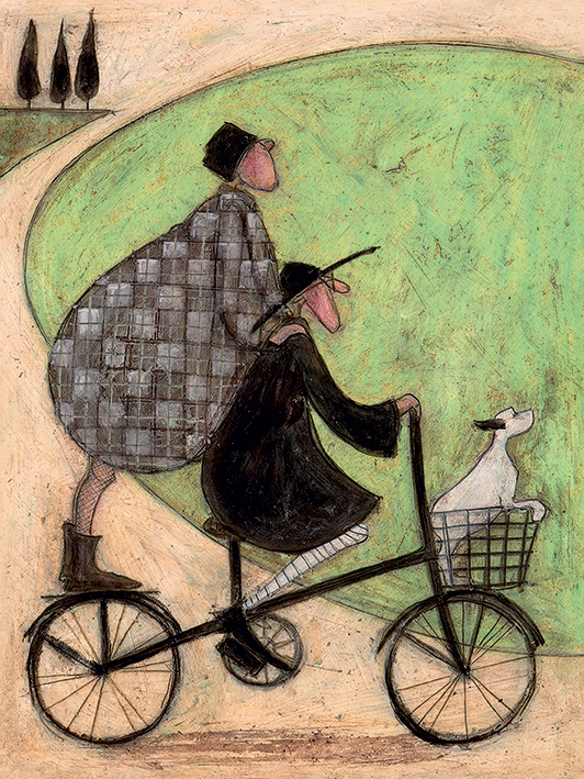 Sam Toft (Double Decker Bike) Canvas Prints