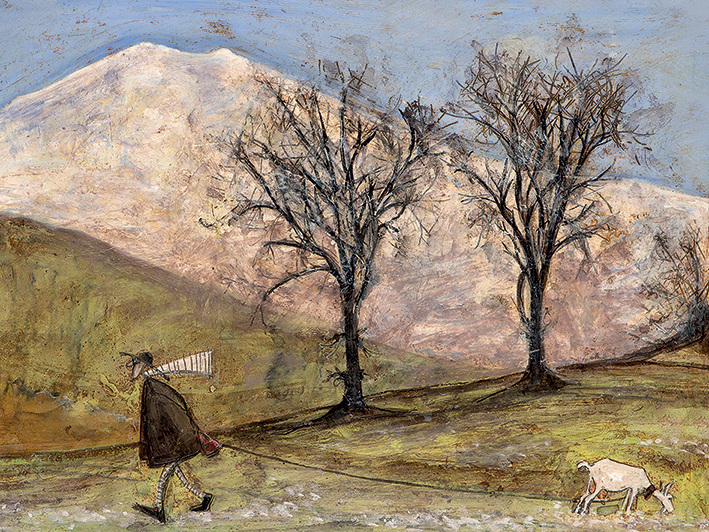 Sam Toft (Walking with Mansfield) Canvas Prints