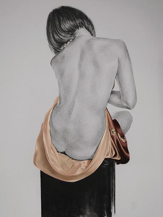 T. Good (Silk In Mocha) Canvas Print