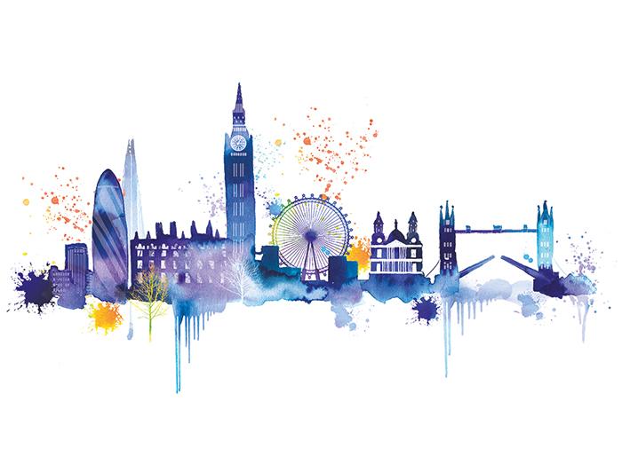 Summer Thornton (London Skyline) Canvas Prints