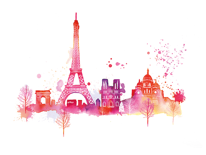 Summer Thornton (Paris Skyline) Canvas Prints