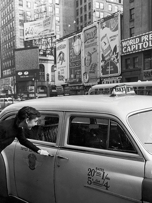 Time Life (Audrey Hepburn - Taxi) Canvas Print