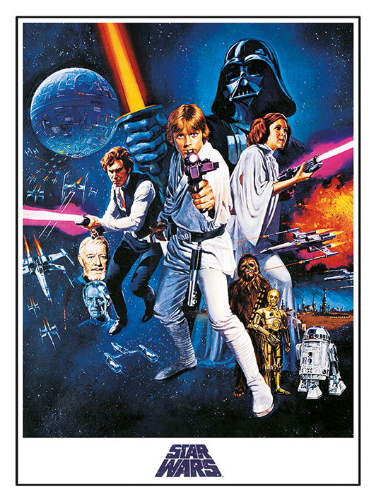 Star Wars Episode IV A New Hope (One Sheet) Canvas Print