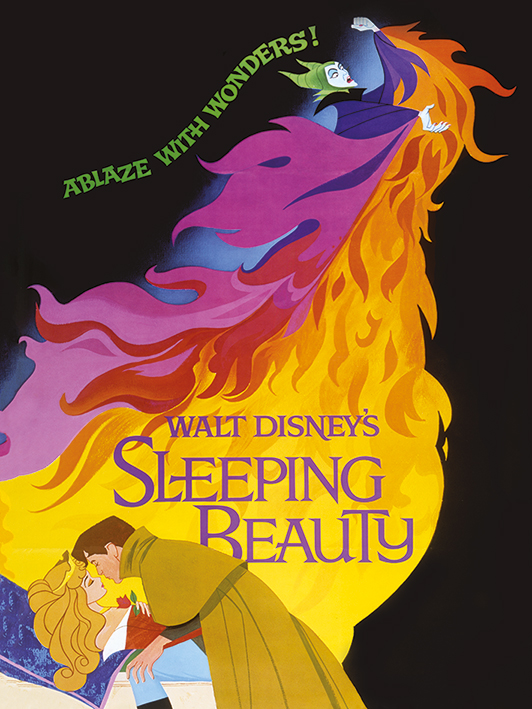 Sleeping Beauty (Ablaze) Canvas Prints