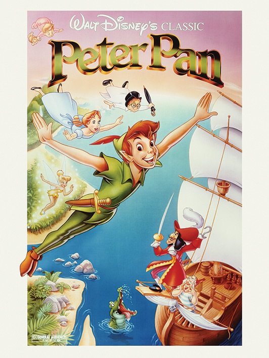 Peter Pan (Flying) Canvas Prints