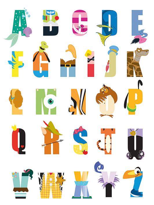 Disney (Alphabet) Canvas Print