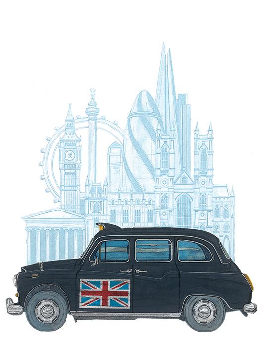 Barry Goodman (London Taxi) Canvas Prints
