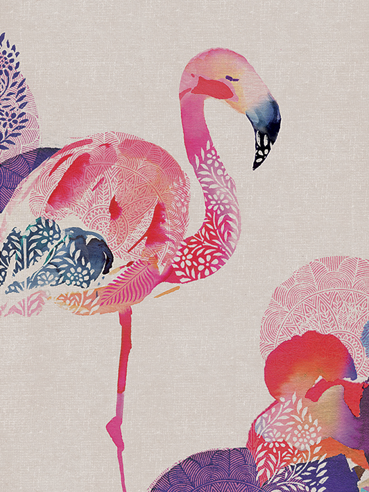 Summer Thornton (Tropical Flamingo) Canvas Print
