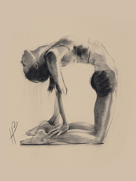 Hazel Bowman (Camel Pose) Canvas Prints