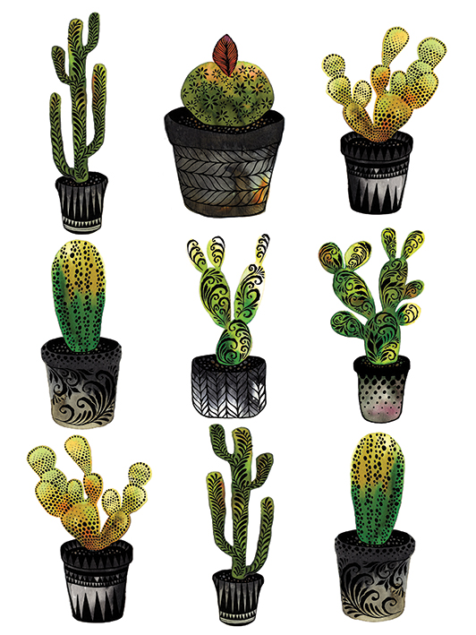 Sofie Rolfsdotter (Cacti) Canvas Print