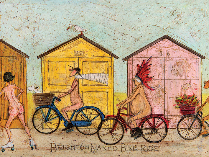 Sam Toft (Brighton Naked Bike Ride) Canvas Prints