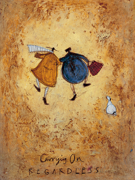 Sam Toft (Carrying on Regardless) Canvas Prints