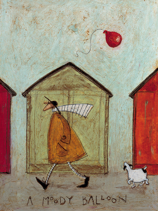 Sam Toft (A Moody Balloon) Canvas Print